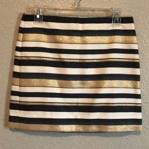 J. Crew stripe mini Skirt size 0